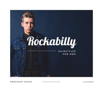 Man with rockabilly hairstyle