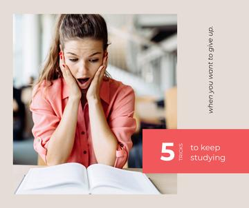 Girl learning Studying tips