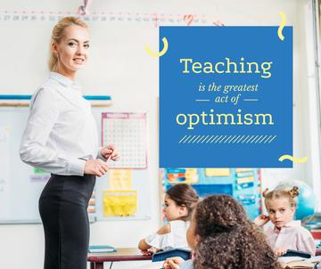 Teaching quote Kids Studying in Classroom