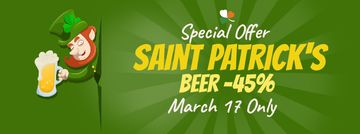 Saint Patrick's leprechaun with beer