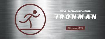 Triathlon sporting tournament icon