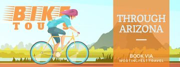 Cyclist riding on nature background