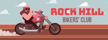 Biker riding his motorcycle