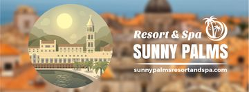 Sunny southern resort icon