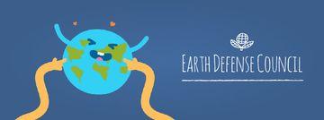 Hands tickling Earth