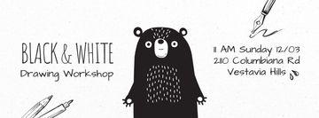 Scary black bear