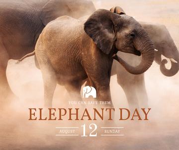 Elephant Day wild animals in habitat