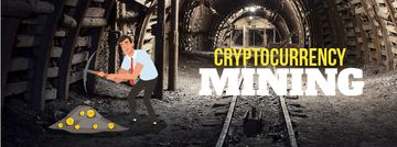 Man mining cryptocurrency