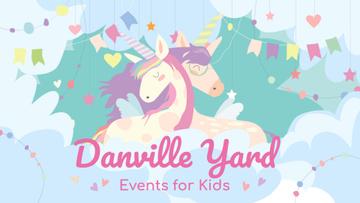 Kids Entertainment Magical Embracing Unicorns