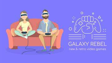 Video Games Ad Friends Playing Vr Game