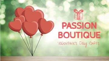 Valentine's Day heart-shaped Balloons