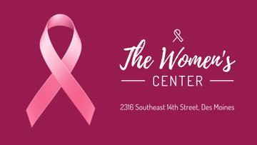 Women's Health Pink Ribbon Symbol