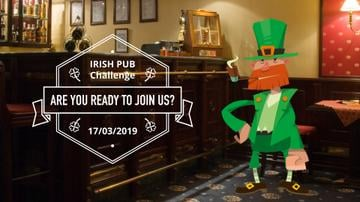 Saint Patrick's Leprechaun in Pub
