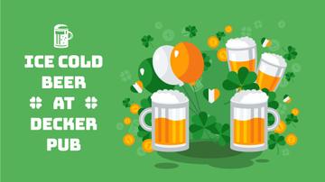 Saint Patrick's Day clinking Beer Mugs