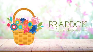 Florist Services Blooming Flowers in Basket