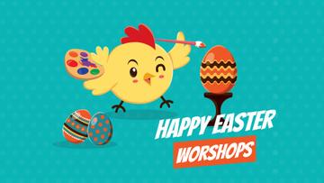 Easter Workshop Chick Coloring Egg