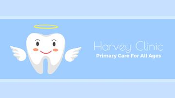 Dentistry Ad Cartoon Angel Tooth Character