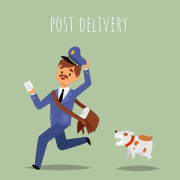 Dog chasing a mailman
