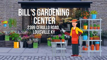 Florist Studio Ad with Gardener Working
