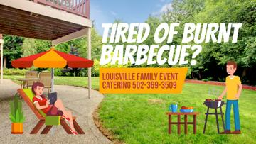 Barbecue Invitation Man by Grill