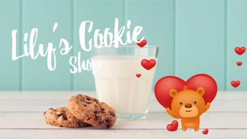 Valentine's Cookies with Cute Teddy Bear