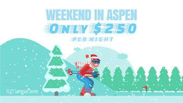 Ski Resort Offer Skier on a Snowy Slope