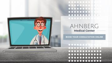 Online Consultation Doctor Speaking on Laptop Screen