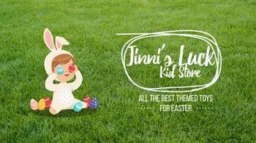 Easter Offer Kid in Bunny Costume