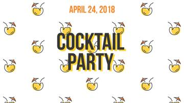 Summer Cocktails Party Icons in Yellow