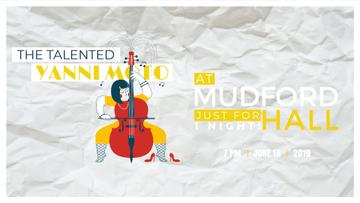 Concert Invitation Girl Playing Violoncello