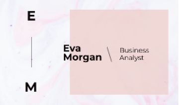 Business Analyst Ad with Watercolor Pattern in Pink