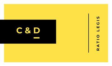 Minimalistic Geometrical Frame in Yellow