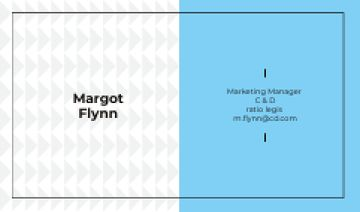 Marketing Manager Contacts with Geometric Pattern in Blue