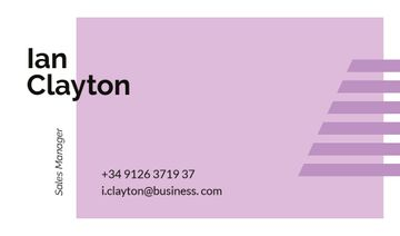 Sales Manager Contacts with Geometrical Frame in Purple