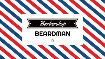 Barbershop Striped Lamp Pattern