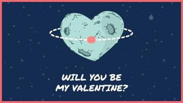 Valentine's Day Heart-Shaped Planet in Space