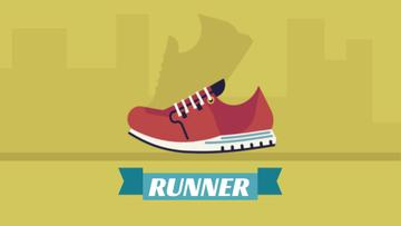 Sporting Goods Ad Running Red Sports Shoe