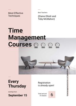 Business courses ad with conference room