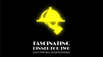 Neon Restaurant Signboard Food Icons