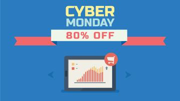 Cyber Monday Sale Digital Devices in Blue