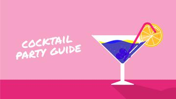 Cocktail Party Drink in Martini Glass