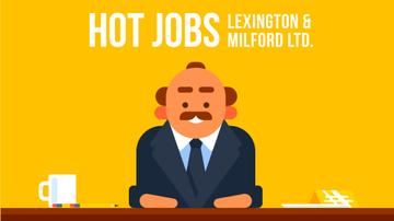 Emotional Angry Boss on Yellow