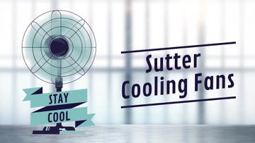 Cooling Fan Ad in Blue