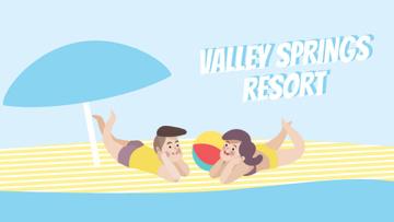 Resort Promotion Couple Resting on Beach
