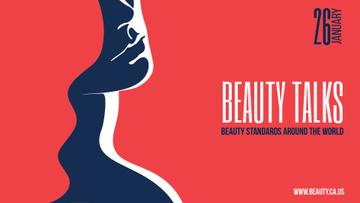 Beauty Talks Announcement Creative Female Portrait