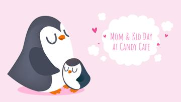 Mother's Day Offer with Penguin Hugging Its Mom