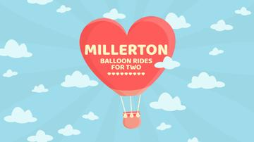 Valentine's Day Heart-Shaped Balloon in sky