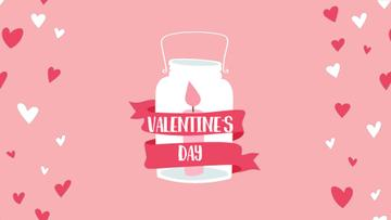 Candle in jar for Valentine's Day