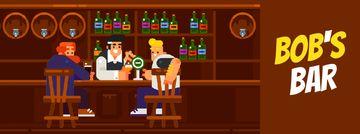 Men enjoying drinks at the bar