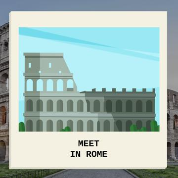 Ancient Rome in famous Places